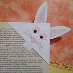 Cute idea for kids: Bunny bookmark