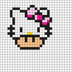 Hello_Kitty_Mushroom by on Kandi Patterns Kandi Patterns, Hama Beads Patterns, Beading Patterns, Quilt Patterns, Pixel Art Templates, Perler Bead Templates, Pixel Art Champignon, Cross Stitch Patterns, Beaded Cross Stitch