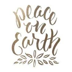 peace on earth: gold-foil holiday art print
