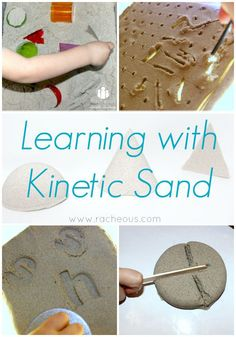 Learning with Kinetic Sand - Educational activity ideas with sensory sand!