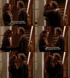lorelai and luke. I cheered so loud when this moment finally came.