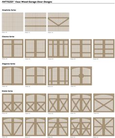 Our carriage house style composite faux wood garage doors are available in a variety of door design models. We can also custom design your doors. Another big plus when you choose Ranch House Doors. http://www.faux-wood-garage-doors.com or www.ranchhousedoors.com