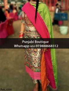 Gorgeous Gray Floral Embroidered Punjabi Suit Product Code: Pun_s330 To order this dress , please call or WhatsApp us at +919888668312 We can design this Punjabi Suit in any color combination or on any fabric (price may vary according to fabric)