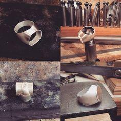 process of making of hollow ring - il processo di realizzazione di un anello cavo