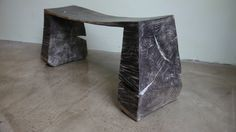 101-Bench, Oak blackened&limed, Top ca 75x21 H ca 32cm