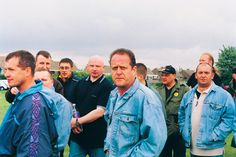The Battle of Orgreave (Jeremy Deller) - Participating former miners and their families on the day of the performance.