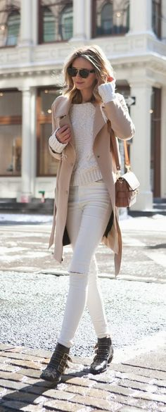Fall and winter neutral outfit