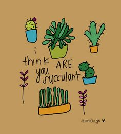 Humerous Plant illustration 8x10 succulent by NightlyDoodles, $15.00