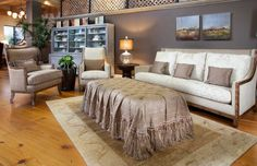 By putting the right blanket over an ottoman, you can add elegance and balance to your interior design