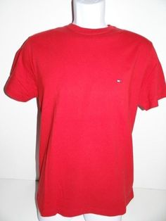Tommy Hilfiger Men's Crew Neck Red 100% Cotton T-Shirt Size: XS, XL, & XXL NWT #TommyHilfiger #BasicTee