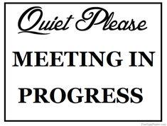 Office Door Sign Meeting in Progress / Open by Frameyourstory ...