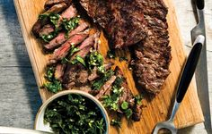 http://www.bonappetit.com/recipe/grilled-skirt-steak-with-herb-salsa-verde