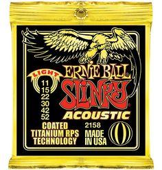 Ernie Ball 2158 Coated Light Slinky Acoustic Guitar Strings 11-52 #Affiliate