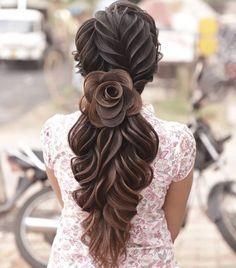 Ball Hairstyles, Fancy Hairstyles, Wedding Hairstyles, Hairdo For Long Hair, Long Hair Cuts, Long Hair Styles, Bridal Hairdo, Bridal Hair And Makeup, Frozen Hair Tutorial