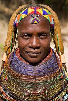 Muila woman . Southern Angola