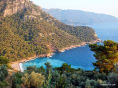 View of Kabak Koyu from Olive Garden, down in the south near Fethiye - looks fabulous!!!