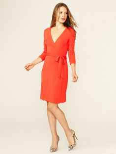 3/4 Sleeve Jersey Wrap Dress by Ava & Aiden at Gilt