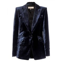 Emilio Pucci Velvet Blazer (10 470 SEK) ❤ liked on Polyvore featuring outerwear, jackets, blazers, velvet, blue, blue velvet jacket, emilio pucci blazer, velvet jacket, blue blazer and blue jackets