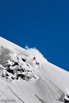 Go big or go home. Ted #Ligety at Girdwood, Alaska #skiing #snow #alaska #ski SkiMag.com