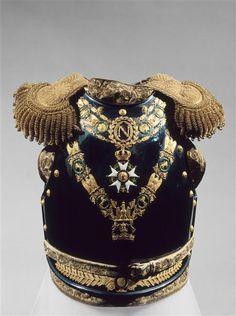 King of Westphalia Jérôme Bonaparte's parade cuirass and helmet,  Armchair…