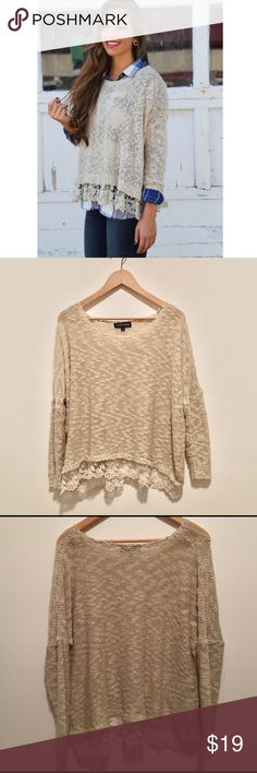 Vintage Lace Trim Sweater This is NOT By Urban Outfitters, but it is almost identical to their Lace Trim sweaters. In very good condition. No tears, rips or stains. Urban Outfitters Sweaters