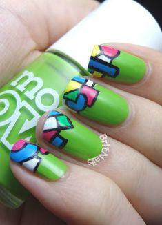 Geometric designed Nails!