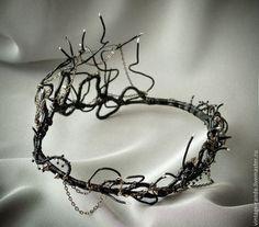 """Готика ручной работы. Ярмарка Мастеров - ручная работа. Купить корона из проволоки """"I'm the thorn"""". Handmade. Чёрный, Хэллоуин"""