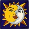Mexican Tile   - Handpainted Decorative Ceramic Tile - Sun & Moon Tiles