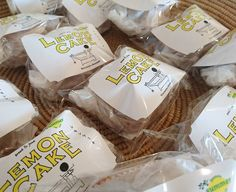 七穀ベーカリーさんのラムレーズンレモンケーキ  到着しましたよ  ドーナツマフィンベーグルグラノーラ  お待ちしてます