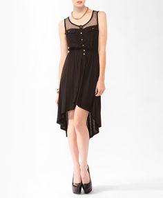 MY NEW FAV DRESS!! wearing it right now!! Mesh Yoke High-Low Dress | FOREVER21 - 2000039822  #Loveisfree