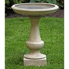 Campania International Chatham Cast Stone Birdbath | from hayneedle.com