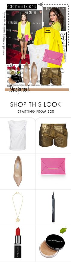 """""""Get the Look: Celebs in Sassy Summer Shorts"""" by xoxo-aiii ❤ liked on Polyvore featuring Vivienne Westwood Anglomania, Axara, Jimmy Choo, BCBGMAXAZRIA, Tory Burch, Christian Dior, Smashbox, Youngblood and Juicy Couture"""