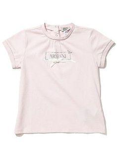 ARMANI BABY Girl's Embellished Logo Tee, Newborn's Top, Size 9M, Pink