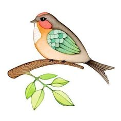 Found this colorful archival print called Chubby Bird at JooJoo's etsy shop.