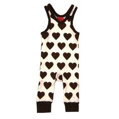KRAM barnkläder - hängselbyxa vit brun f04cd6034ce81