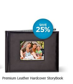 Hardcover StoryBook SALE!    June 1-25: Celebrate our 25th Anniversary and save 25 percent on Hardcover StoryBooks. Includes Leather Premium StoryBooks, Lay-flat upgrade, additional pages and Product Credits.  #scrapbooking