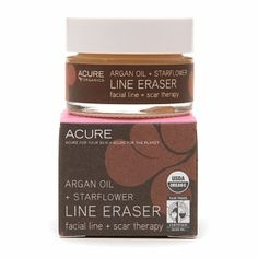 Acure Organics Line Eraser.  This USDA certified organic balm works wonders on deep wrinkles, and helps fade scars with the well-studied activities of borage and argan oils.  Also eases the occasional irritation of skin problems like psoriasis and excema.  True all-in-one therapy!