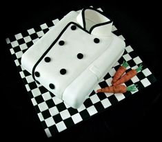 Chefs jacket cake - by fuddle @ CakesDecor.com - cake decorating website