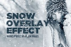 Snowy Day Overlay Effect #customfonts #presentationmockups #mockuptemplates #vectorelements #photoeffects