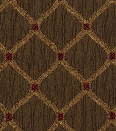 $19.99/yd - OTTOMAN - Upholstery Fabric-Jaclyn Smith Newark-Pecan
