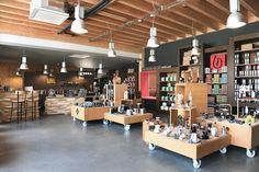 Notre Boutique d'usine à Saint-Aunès, à 15 minutes de Montpellier. #architecture #wood design #coffeestore  www.bibal-boutique.fr