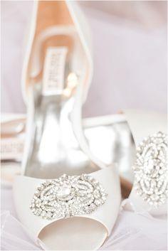 Wedding heels, beautiful wedding shoes, blush, navy, and silver winter wedding