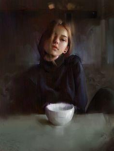 Daniel Bolling Walsh Freelance/concept artist Memories - Cafe study