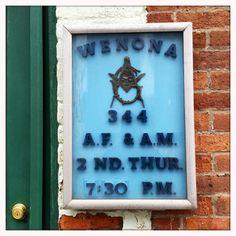 Sign outside freemason lodge