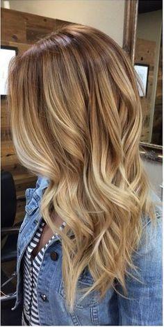 long hair balayage in layers