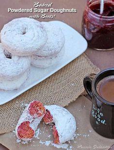 Gluten Free Baked Powdered Sugar Doughnuts
