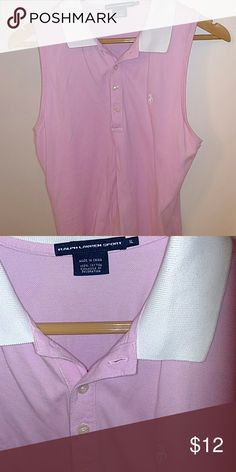 Ralph Lauren Sleeveless Polo Great for golf! Pink and white. Excellent! Ralph Lauren Tops Tees - Short Sleeve