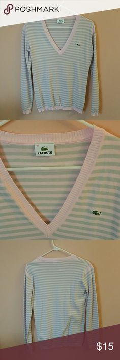 LACOSTE Sweater LACOSTE sweater. In good condition~ Lacoste Sweaters V-Necks