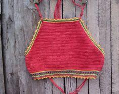 crochet el borde superior amarillo Festival por GoodMoodCreations