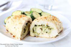 Mozzarella Pesto Stuffed Chicken Breasts Recipe on twopeasandtheirpod.com Simple to make-a family favorite!